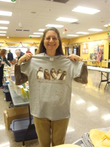 Stacy models Desert Rivers Audubon's 2013 t-shirt, available at our upcoming events.